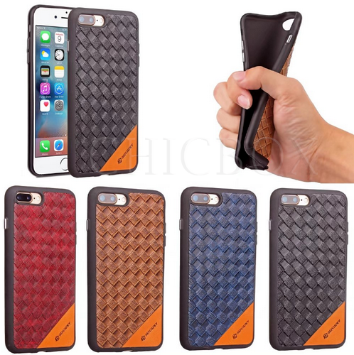 Weave Pattern Electroplating Switch Button Soft TPU Case