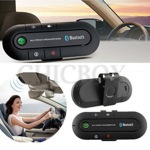 Wireless Multipoint Bluetooth Hands Free Car Kit Speakerphone_w_retail package